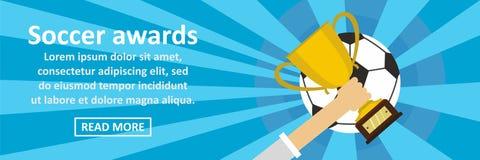 Soccer awards banner horizontal concept Stock Image