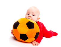 Soccer baby Stock Photo