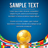 Soccer Backdrop with Abstract Golden Cup. Vector Royalty Free Stock Photos