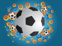 Soccer background. Soccer poster background.Vector illustration Stock Photos
