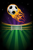 Soccer background. A vector illustration of flaming soccer background Royalty Free Stock Photos