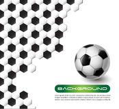 Soccer  background. Soccer ball  with background texture Royalty Free Stock Photos
