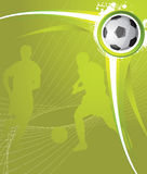 Soccer background. Vector abstract background,soccer poster Royalty Free Stock Photography
