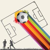 Soccer background. Vector abstract background,soccer poster Stock Image