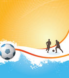 Soccer background. Vector abstract background,soccer poster Royalty Free Stock Image