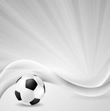 Soccer background with abstract waves Stock Images