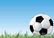 Soccer background with ball royalty free illustration