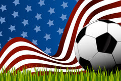 Soccer background ball Stock Images