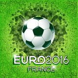 Soccer background with ball. Original illustration sports series. Classical football poster. Stock Image