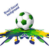 Soccer background with Brazil colors grunge splash vect Royalty Free Stock Images