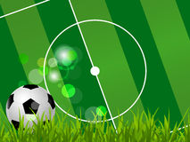 Soccer background with bubbles and soccer ball Stock Photos