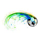 Soccer background color ink blot Stock Photos