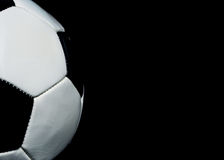 Soccer background with copy space Stock Photo