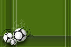Soccer background Design. Dark green football background for webs and posters Stock Images