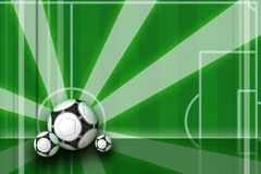 Soccer background design with rays. Dark green football background for webs and posters Stock Photography