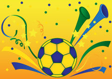Soccer background. Festive sport background with soccerball Royalty Free Stock Images