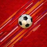 Soccer match event football ball background Royalty Free Stock Photography