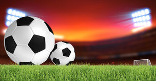 Soccer background. Soccer and football sport background Royalty Free Stock Photo