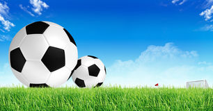 Soccer background. Soccer and football sport background Stock Photos