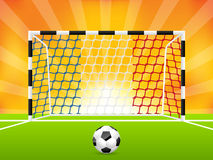 Soccer background with french flag net Stock Images