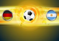 Soccer background. Germany and Argentina football Royalty Free Stock Photography