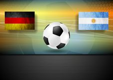 Soccer background. Germany and Argentina football Stock Image