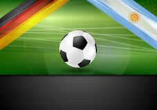 Soccer background. Germany and Argentina football Royalty Free Stock Image