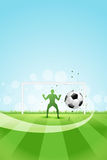 Soccer Background with Goalkeeper and Ball Royalty Free Stock Images