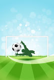 Soccer Background with Goalkeeper and Ball Stock Photos