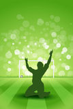 Soccer Background. With Grass and with Player Royalty Free Stock Images