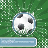 Soccer background in retro style,  illustration Stock Images