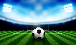 Soccer background. Stadium lights at night and Soccer background Royalty Free Stock Images