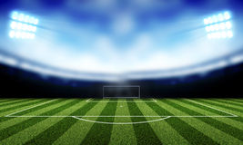 Soccer background. Stadium lights at night and Soccer background Stock Image