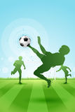 Soccer Background with three Players Stock Photos