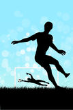 Soccer Background with two Players Royalty Free Stock Photo