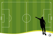 Soccer background (vector) Stock Photo