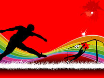 Soccer backgrounds Stock Photography