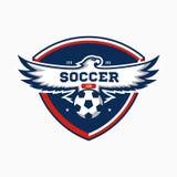 Soccer badge background Stock Images