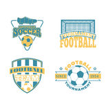 Soccer badge vector set. Royalty Free Stock Photo