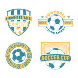 Soccer badge vector set. Stock Photos
