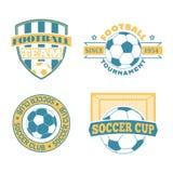 Soccer badge vector set. Stock Photos