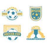 Soccer badge vector set. Stock Photography