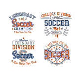 Soccer Badges Collection. Set Of Vector Soccer Badges Isolated On White For Web, Print Or Apparel Use Royalty Free Stock Photos