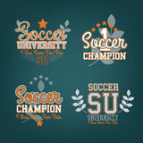 Soccer Badges Set Stock Photo