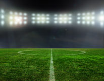 Soccer bal.football,. On the stadium. abstract football or soccer backgrounds Stock Images