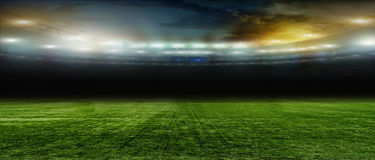 Soccer bal.football .. On the stadium. On the stadium. abstract football or soccer backgrounds Stock Image