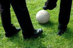 Soccer ball #01. Photo of white soccer ball Royalty Free Stock Photo
