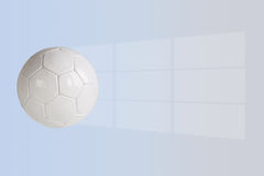 Soccer ball. With window light with clipping path vector illustration