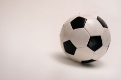 Soccer Ball. On neutral background ready for your type Royalty Free Stock Photo
