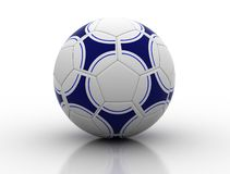 Soccer ball. With slight reflection on white background Stock Images